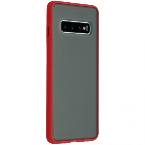 Frosted Backcover Samsung Galaxy S10 - Rood