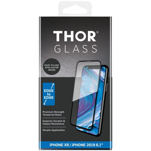 Full Screenprotector + Apply Frame voor de iPhone 11 / iPhone Xr - Zwart