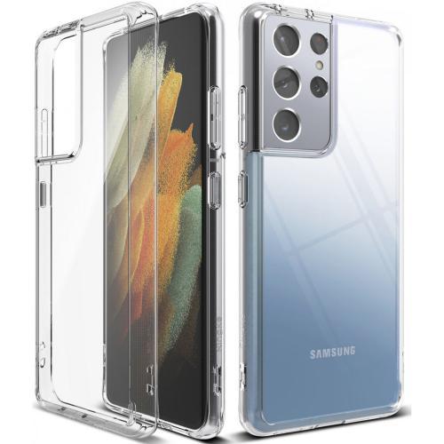 Fusion Backcover voor de Samsung Galaxy S21 Ultra - Transparant