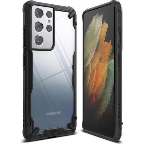 Fusion X Backcover voor de Samsung Galaxy S21 Ultra - Zwart