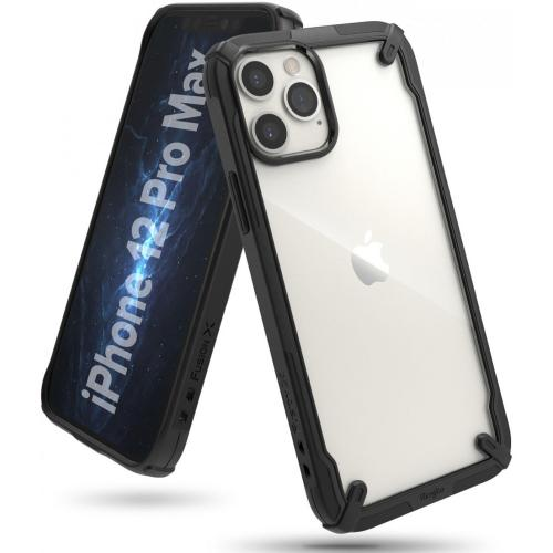 Fusion X Backcover voor iPhone 12 Pro Max - Zwart