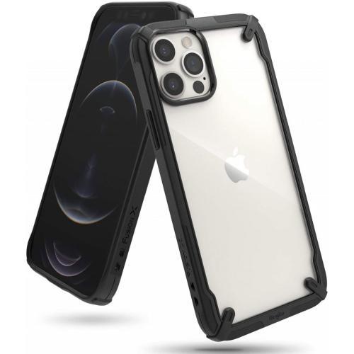 Fusion X Backcover voor iPhone 12 (Pro) - Zwart