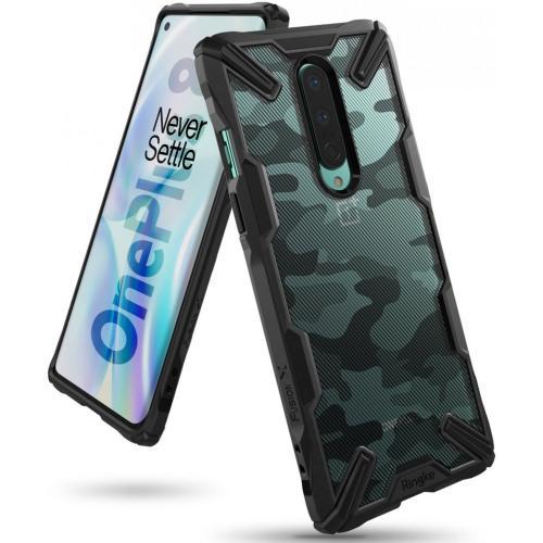 Fusion X Design Backcover voor de OnePlus 8 - Camo Zwart