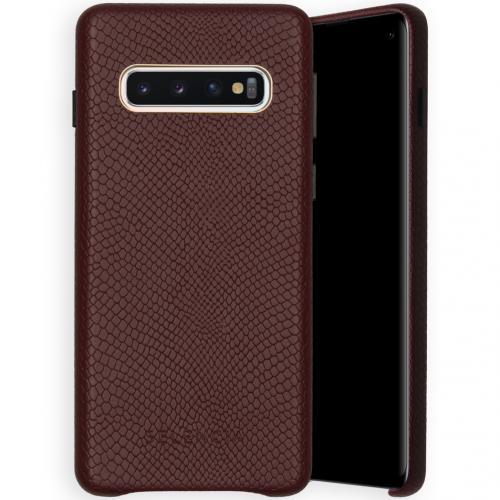 Gaia Slang Backcover voor de Samsung Galaxy S10 - Donkerrood