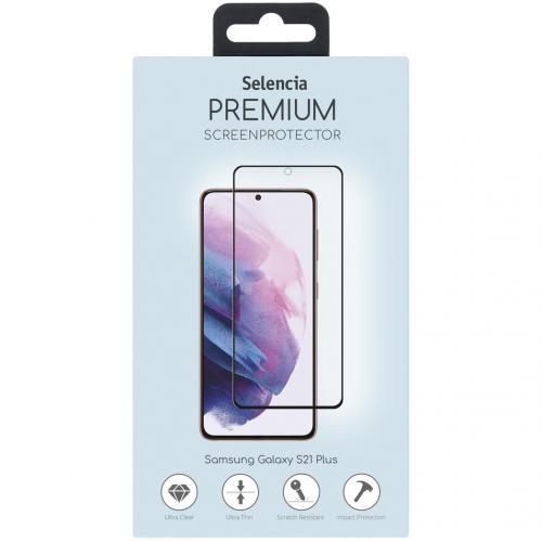 Gehard Glas Premium Screenprotector voor de Samsung Galaxy S21 Plus - Zwart