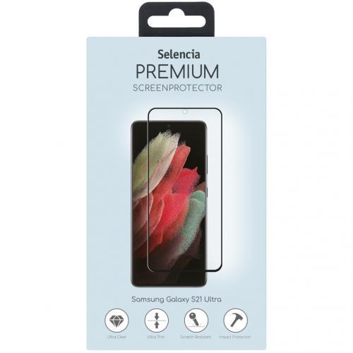 Gehard Glas Premium Screenprotector voor de Samsung Galaxy S21 Ultra - Zwart