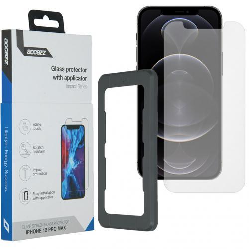Glass Screenprotector + Applicator voor de iPhone 12 Pro Max
