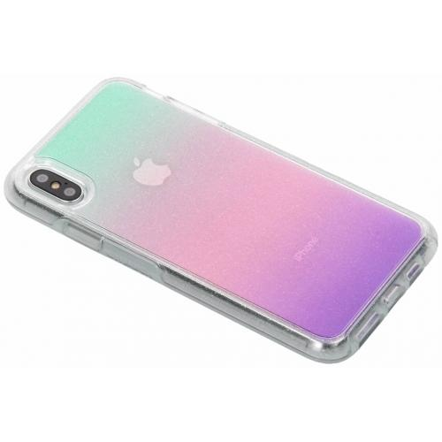Glitter Symmetry Backcover voor iPhone Xs Max - Stardust