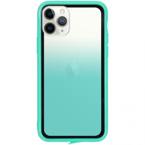 Gradient Backcover voor de iPhone 11 Pro - Groen