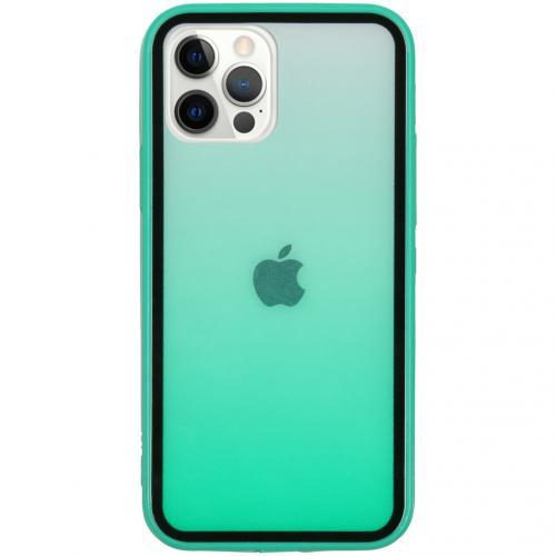Gradient Backcover voor de iPhone 12 (Pro) - Groen