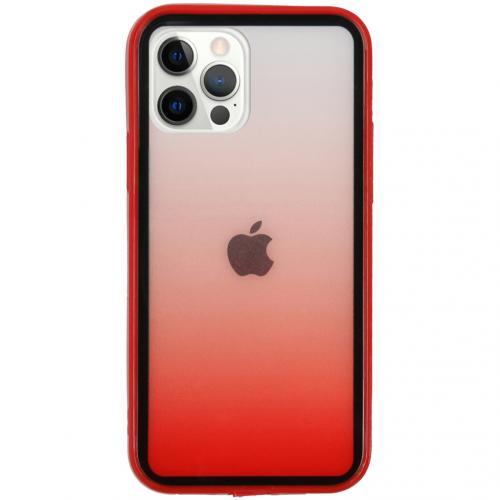 Gradient Backcover voor de iPhone 12 (Pro) - Rood