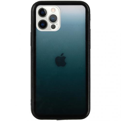 Gradient Backcover voor de iPhone 12 (Pro) - Zwart
