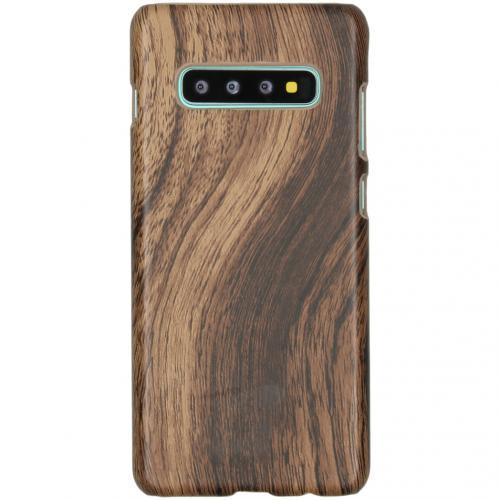 Hout Design Backcover voor de Samsung Galaxy S10 Plus - Bruin