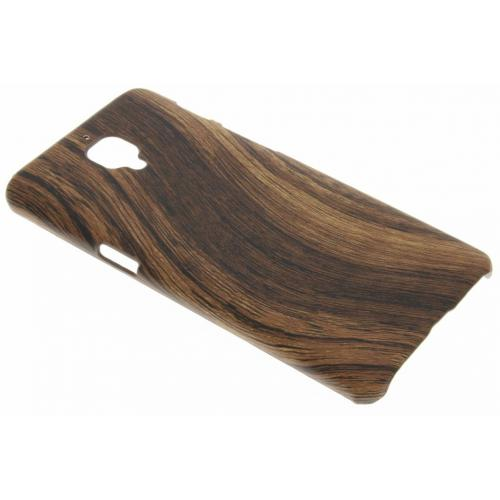 Hout Design Backcover voor OnePlus 3 / 3T - Donkerbruin