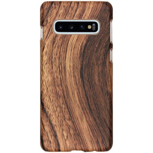 Hout Design Backcover voor Samsung Galaxy S10 - Bruin