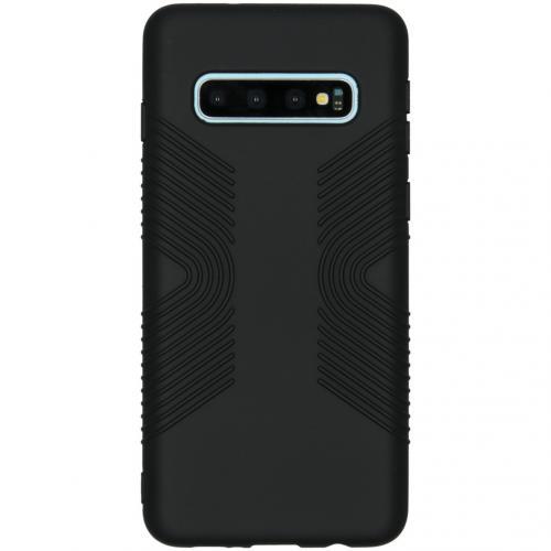 Impact Grip Backcover voor de Samsung Galaxy S10 - Zwart