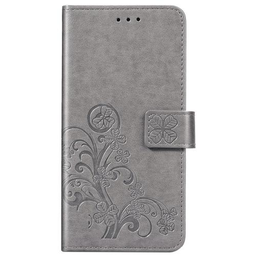 Klavertje Bloemen Booktype voor de Huawei P Smart (2020) - Grijs