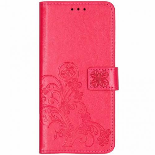 Klavertje Bloemen Booktype voor Huawei Mate 20 Pro - Roze