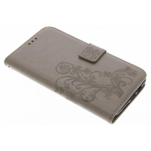 Klavertje Bloemen Booktype voor OnePlus 3 / 3T - Grijs