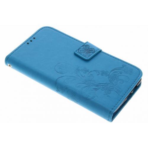 Klavertje Bloemen Booktype voor OnePlus 3 / 3T - Turquoise