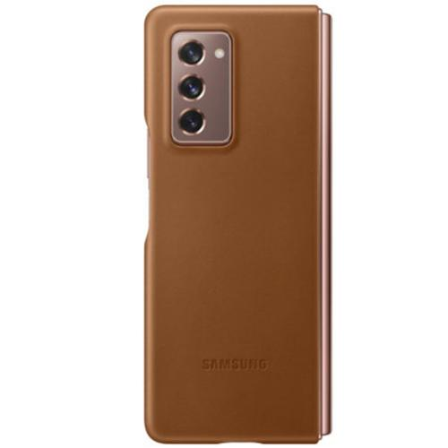 Leather Backcover voor de Galaxy Z Fold2 - Bruin