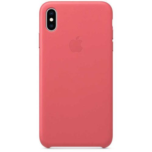 Leather Backcover voor de iPhone Xs Max - Peony Pink