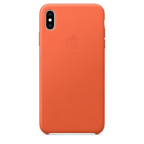 Leather Backcover voor de iPhone Xs Max - Sunset