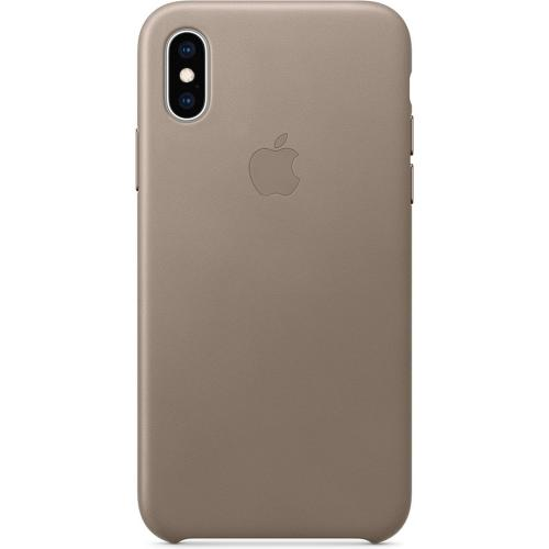 Leather Backcover voor de iPhone Xs Max - Taupe
