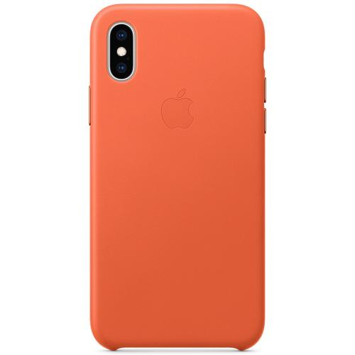 Leather Backcover voor de iPhone Xs / X - Sunset