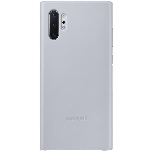 Leather Backcover voor de Samsung Galaxy Note 10 Plus - Grijs