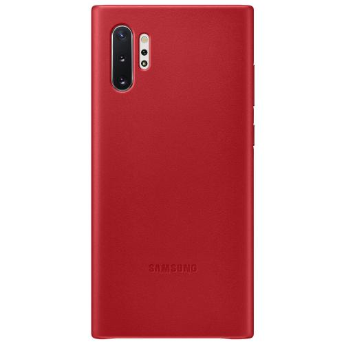 Leather Backcover voor de Samsung Galaxy Note 10 Plus - Rood