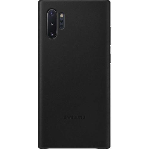 Leather Backcover voor de Samsung Galaxy Note 10 Plus - Zwart