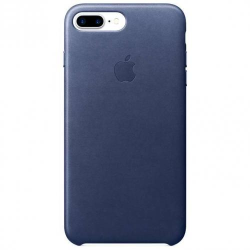Leather Backcover voor iPhone 8 Plus / 7 Plus - Midnight Blue