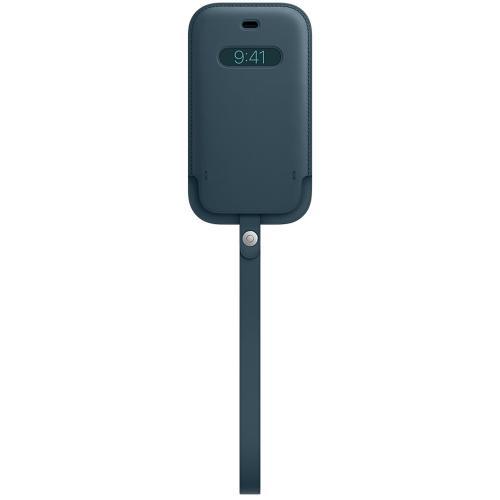 Leather Sleeve MagSafe voor de iPhone 12 Mini - Baltic Blue