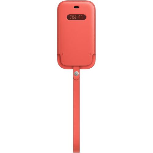 Leather Sleeve MagSafe voor de iPhone 12 Mini - Pink Citrus
