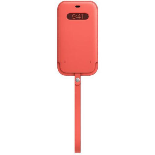 Leather Sleeve MagSafe voor de iPhone 12 Pro Max - Pink Citrus