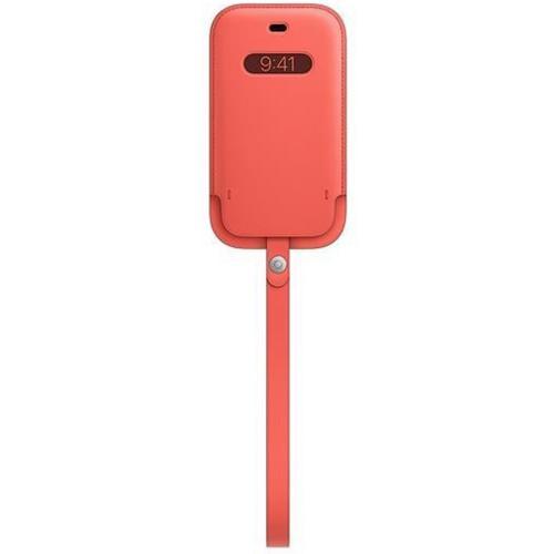 Leather Sleeve MagSafe voor de iPhone 12 (Pro) - Pink Citrus