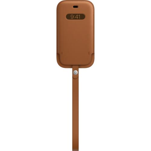 Leather Sleeve MagSafe voor de iPhone 12 (Pro) - Saddle Brown