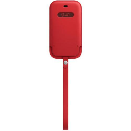 Leather Sleeve MagSafe voor de iPhone 12 (Pro) - Scarlet Red