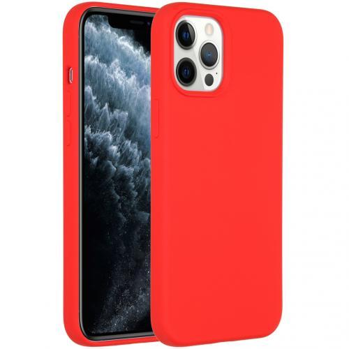 Liquid Silicone Backcover voor de iPhone 12 Pro Max - Rood