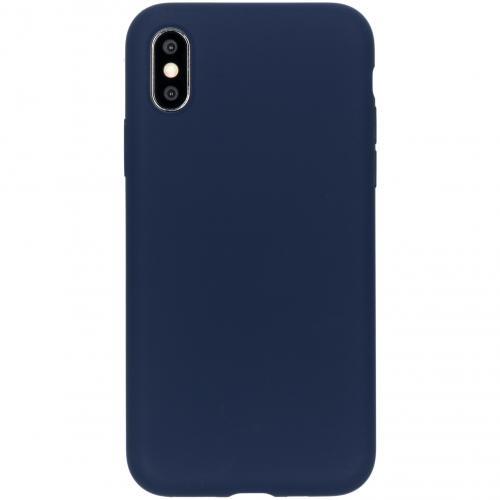 Liquid Silicone Backcover voor de iPhone Xs / X - Blauw