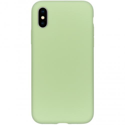 Liquid Silicone Backcover voor de iPhone Xs / X - Groen
