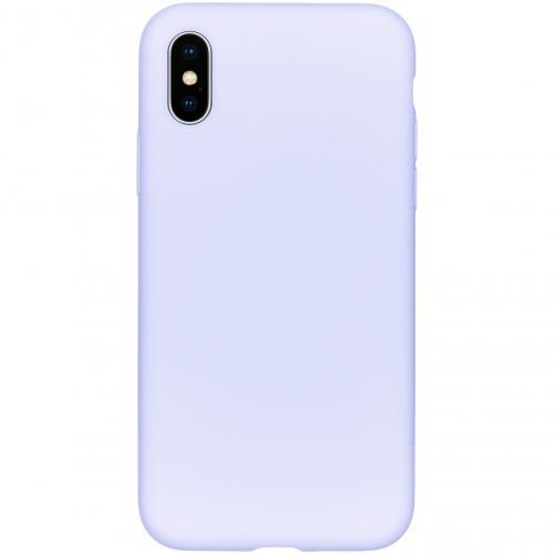 Liquid Silicone Backcover voor de iPhone Xs / X - Paars