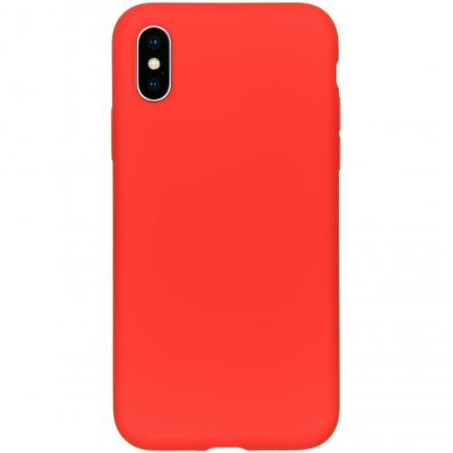 Liquid Silicone Backcover voor de iPhone Xs / X - Rood
