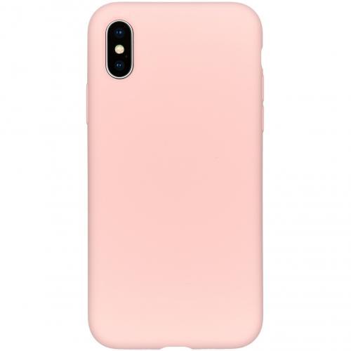Liquid Silicone Backcover voor de iPhone Xs / X - Roze