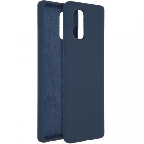Liquid Silicone Backcover voor de Samsung Galaxy A41 - Blauw