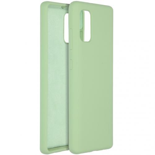 Liquid Silicone Backcover voor de Samsung Galaxy A41 - Groen