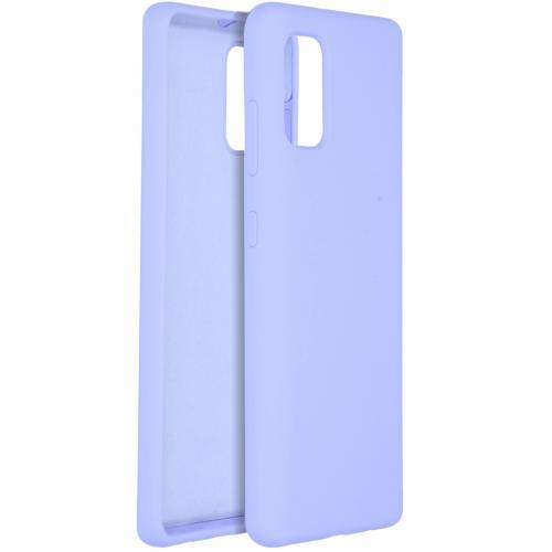 Liquid Silicone Backcover voor de Samsung Galaxy A41 - Paars