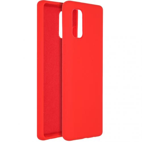 Liquid Silicone Backcover voor de Samsung Galaxy A41 - Rood