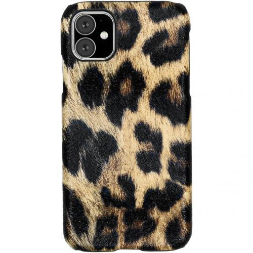 Luipaard Design Backcover voor de iPhone 11 - Bruin